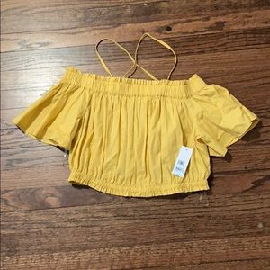BRAND NEW BP OFF THE SHOULDER YELLOW TOP